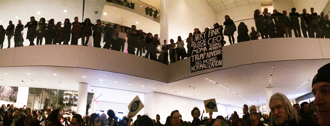 Guerrilla Girls and Occupy Museums Statement and Protest at MoMA, NYC, 2017